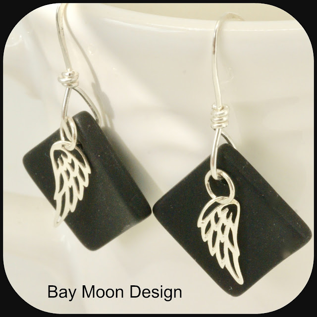 Owl at Night Earrings by BayMoonDesign