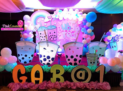 Bubble Tea Themed Stage Backdrop