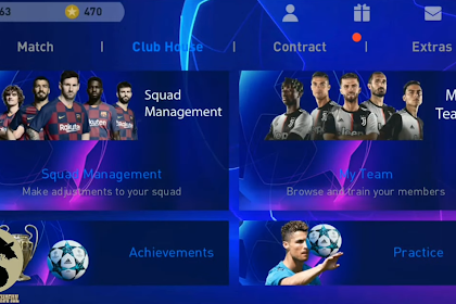 Patch PES 2020 Mobile UCL V4.1.1 By Stranger Shafiul New UCl BGM,Scoreboard