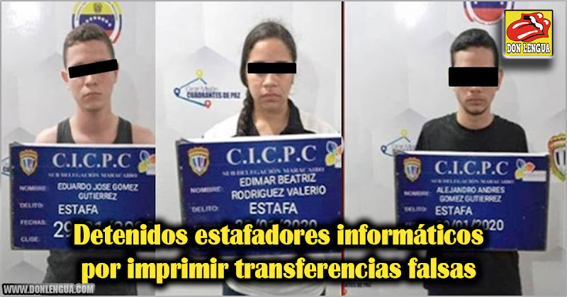 Detenidos estafadores informáticos por imprimir transferencias falsas