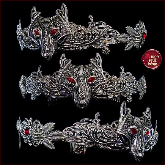 couronne loup viking pagan Fenrir Reine nordique mythologie