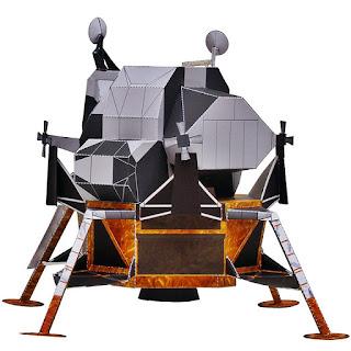 DIY Papercraft Apollo Modul Lunar Folding Sci-fi Papercraft