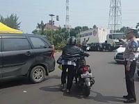 Arus Balik Lebaran 2019, Satuan PJR Polda Banten, Laksanakan Gatur di GT Merak