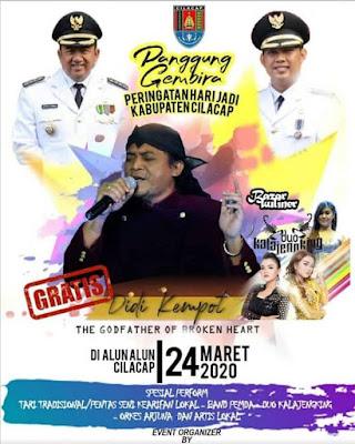 Konser Didi Kempot Peringatan Hari Jadi Kabupaten Cilacap