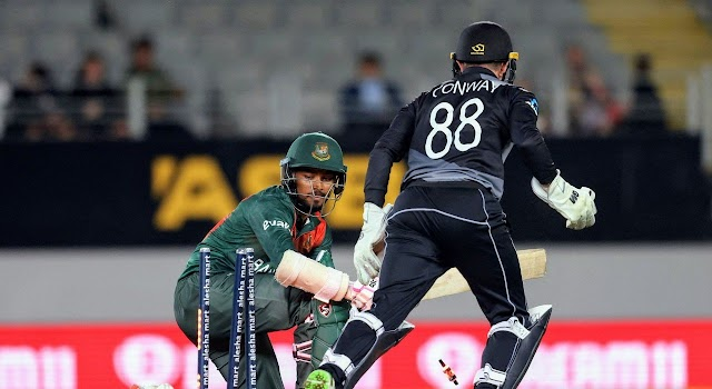 Bangladesh were all out for just 76 runs in 10 overs