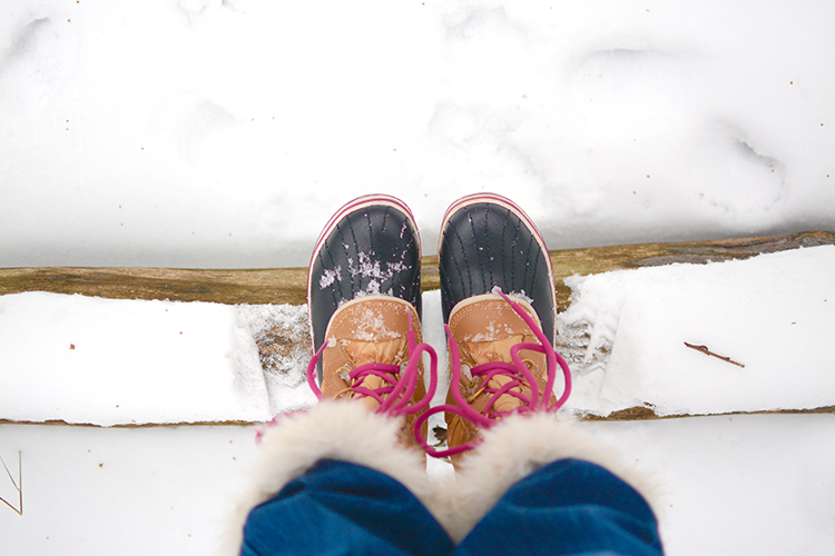 Sorel boots | Winter walk in the woods | My Darling Days Blog
