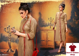 New Aakarsha Drishya Kurtis Vol 18  Fabric: Cotton Blend Sleeve Length: Three-Quarter Sleeves Pattern: Printed Combo of: Single Sizes: XL - 42 in, L - 40 in, XXL - 44 in Length: Upto - 46 in  Dispatch: 2-3 Days