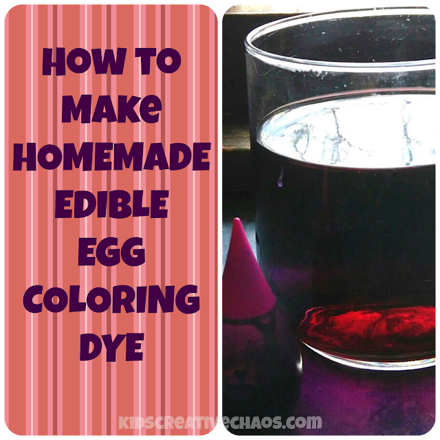 Make Edible Egg Coloring Dye to Use with Your Dudley Egg Spinner: Recipe