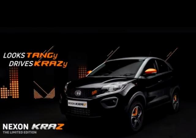 Tata motors launch nexon KRAZ edition.