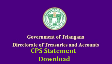 Telangana Treasury Department enabled an official link download CPS/NPS Complete Statement from the date of Regular salary claimed at one click know the process. Contributory Pension Scheme  CPS/ New Pension System NPS Subscribers may Download Month wise credited CPS Amount and Status of the CPS Amount Credited or File Processed or Not Credited at Telangana Treasury Website by using PRAN Number Treasury ID Number and DDO Code without any password. Here we go to know the Process to Download CPS/NPS Complete Statement at www.treasury.telangana.gov.in how-to-download-cps-nps-complete-statement-treasury.telangana.gov.in-missing-credits-details