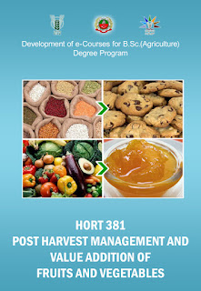 Post Harvest Management and Value Addition Of Fruits and Vegetable ICAR E course Free PDF Book Download e krishi shiksha