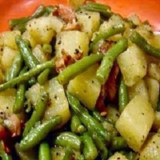 Crockpot Ham, Green Beans & Potatoes