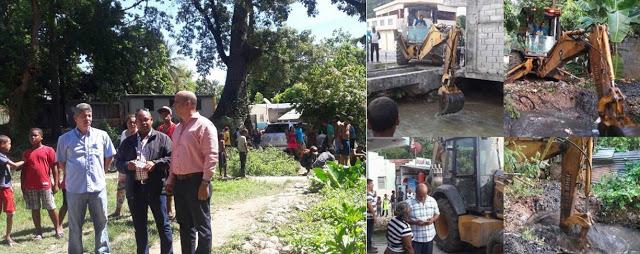 Alcalde Noé Octavio Subevi Nin (Tavito), supervisa trabajos de limpieza en diferentes sectores y realiza recorrido por el río Birán.