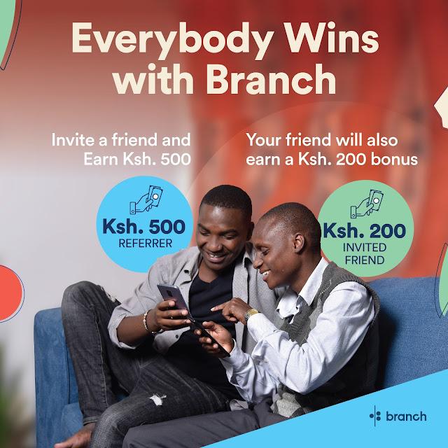 Branch app referral benefit