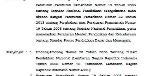 Image Result For Download Permendikbud Ri Nomor Tahun A