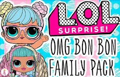 Дружная семья L.O.L. O.M.G. Bon Bon Family Pack с 60 сюрпризами