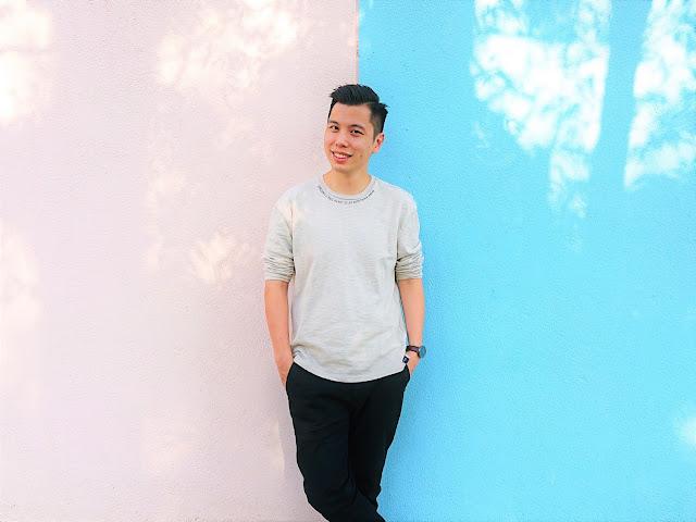 石硤尾公園粉色牆壁