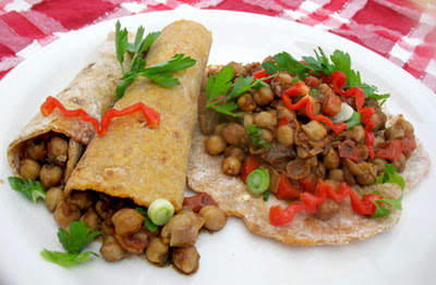 vegetarian jerk chickpeas