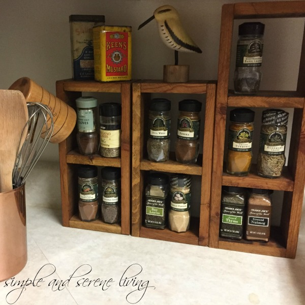 kitchen spice rack primitive