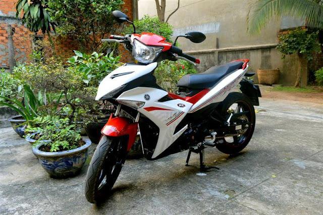 Sơn xe Exciter 150, mẫu sơn trắng đỏ cực đẹp
