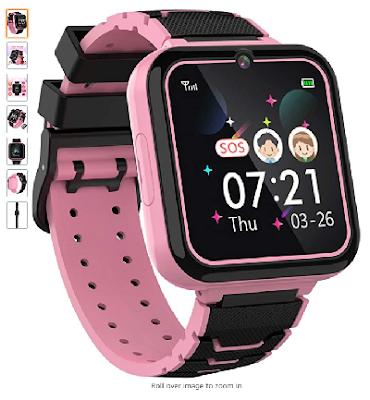 Boys Girls Kids Music Game Smart Watch , HD Touch Screen Wrist Smartwatch