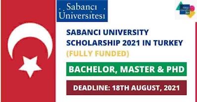 منح جامعة سابانجي 2021-2022   ممول بالكامل   ديك رومى