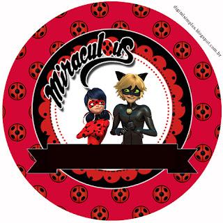 Miraculous Ladybug  Free Printable Cupcake Toppers