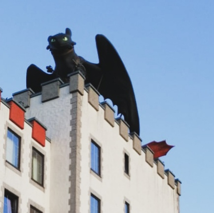 Toothless dragon on Heide Park's Abenteuerhotel