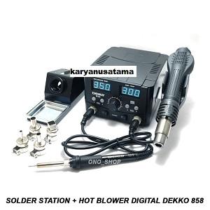 Jual Solder Dekko 858 2in1 Hot Blower  750W di Jakarta