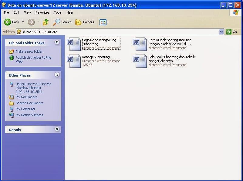 Cara Install Samba di Ubuntu Server 12.04