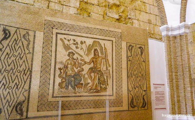 Polifemo e Galateia, mosaico romano no Alcázar de los Reyes Cristianos, Córdoba, Andaluzia