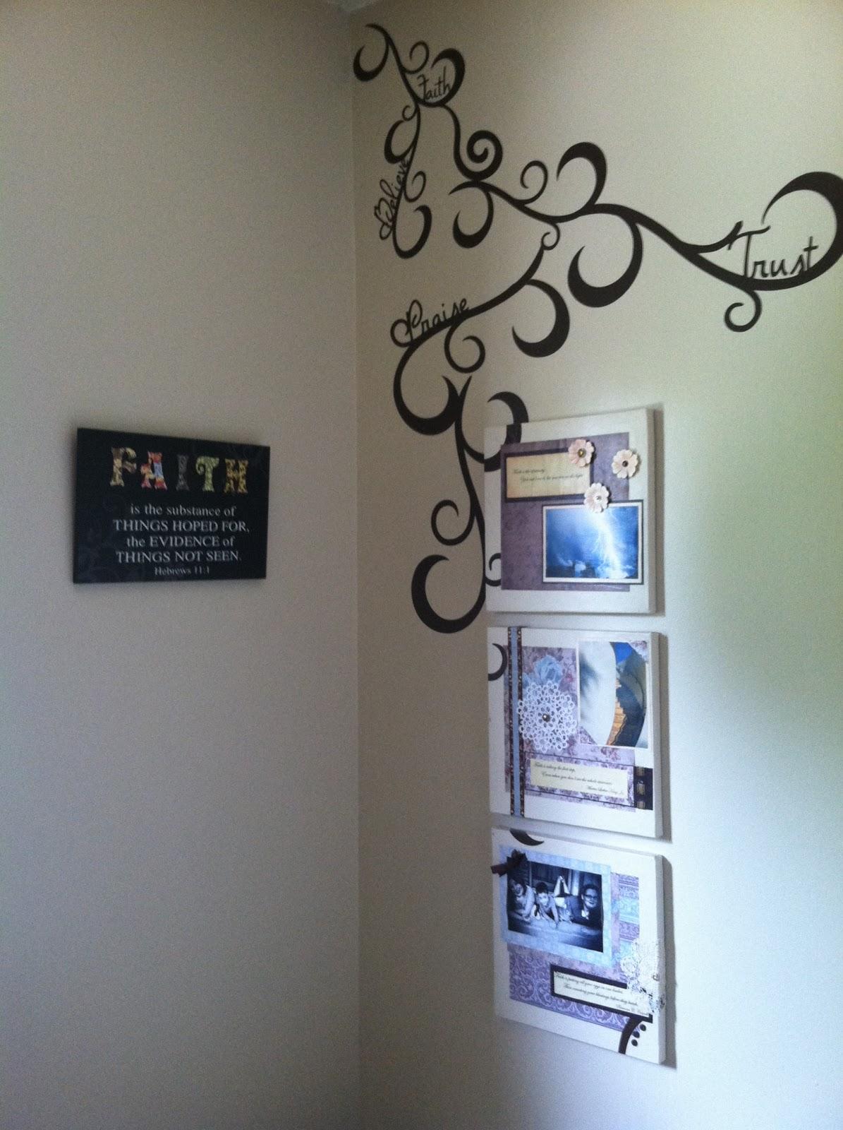 Bathroom Canvas Art: Trena's Creative Ramblings: Vinyl And Canvas Art On The