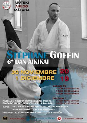 Stéphane Goffin el 30 de noviembre y 1 de diciembre en Málaga