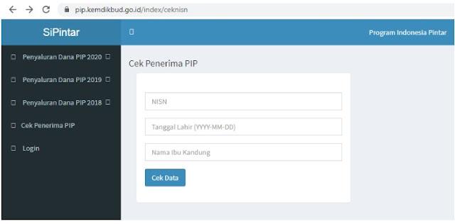 Cara Cek Bantuan PIP dari Kemendikbud Rp1 Juta Login Ke pip.kemdikbud.go.id