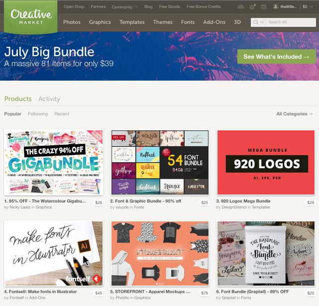 web creative market