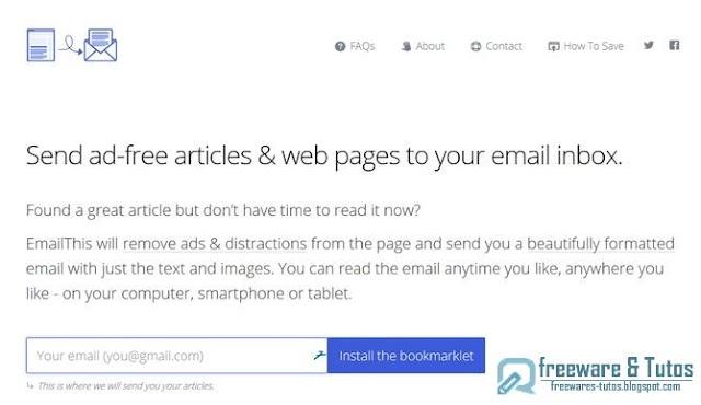 EmailThis : sauvegardez les pages web dans votre messagerie pour les lire plus tard