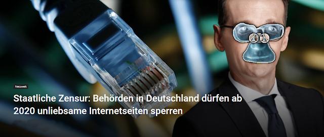 Staatliche Zensur: Behörden in Deutschland dürfen ab 2020 unliebsame Internetseiten sperren