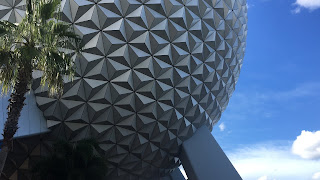 Spaceship Earth with a Palm Tree