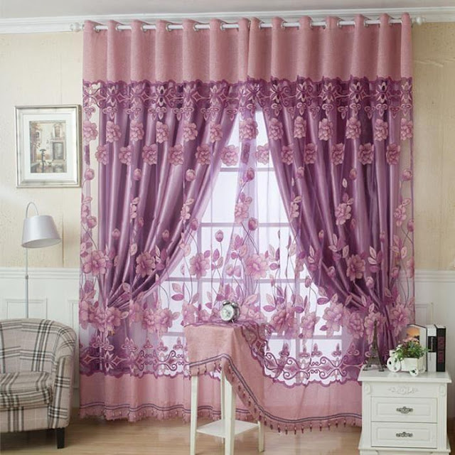 living room curtain designs with pasel shade for living room window treatments