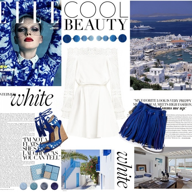 Jelena Zivanovic Instagram @lelazivanovic.Glam fab week.Blue outfit idea for Greek islands.Outfit ideja za grcka ostrva.