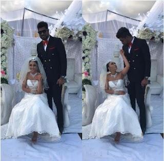 BBNaija's Thin Tall Tony 'Marries' Tonto Dikeh's Alleged Nightmare, Rosaline (Photos)