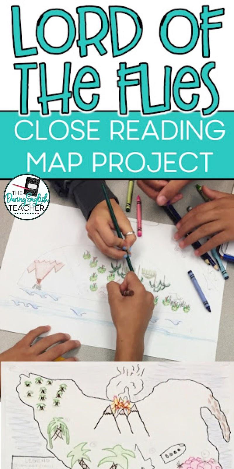 Lord Of The Flies Map : flies, Flies, Project, Daring, English, Teacher