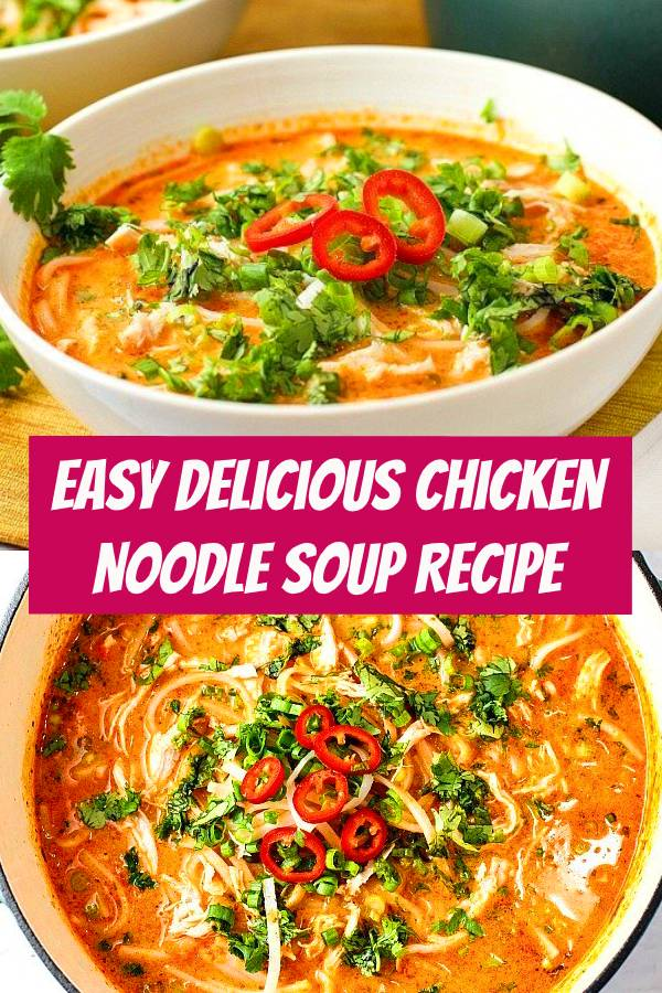 This Chicken Noodle Soup is easy to make at home with ingredients you can find in your local supermarket. If you love delicious comfort food, you need to try this recipe! #chicken #chickensoup #soup #dinner #comfortfood