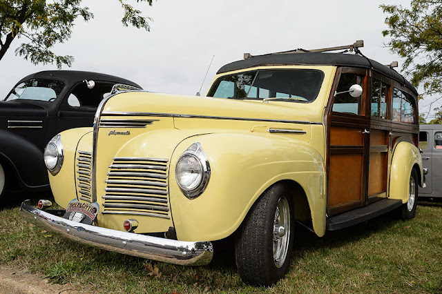 1940 Plymouth Woody at Jalopyrama