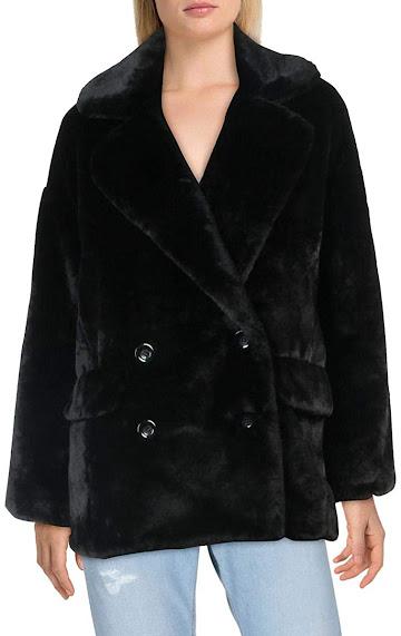 Black Faux Fur Coats Jackets