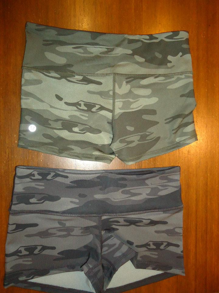 0b050029eb Photos of the Latest. Paris Pink bra under black Camo CRB. Both versions of the  Boogie shorts - Black and Wren Camo