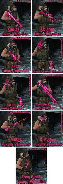 Senjata No Rules Seri Luxury Valentine Point Blank Zepetto Indonesia