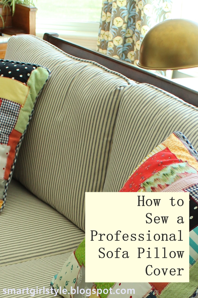 smartgirlstyle how to sew a professional pillow cover. Black Bedroom Furniture Sets. Home Design Ideas