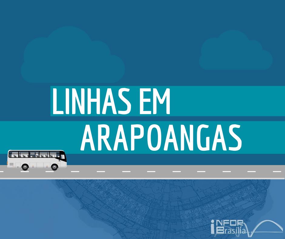 Horário de ônibus das linhas de Arapoangas do Distrito Federal