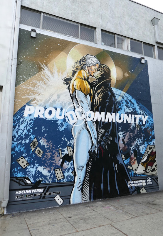 Proud Community DC Universe Apollo Midnighter mural